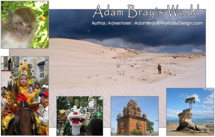 Adam Bray, Author of Star Wars, Marvel Studios, Marvel Comics & LEGO Books, Travel Writer, Location Scout, Vietnam, New Zealand.