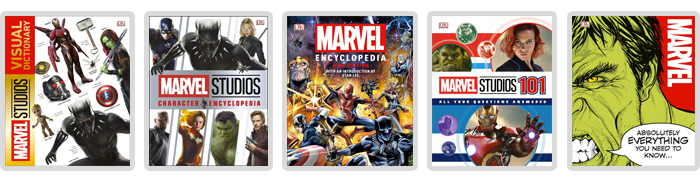 DK Marvel and Marvel Studios books by Author Adam Bray, including the Marvel Studios Visual Dictionary and Marvel Encyclopedia